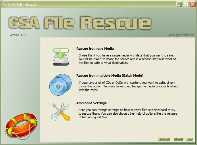 Screenshot for GSA File Rescue 1.12