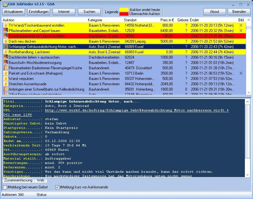 Windows 7 GSA JobFinder 2.42 full