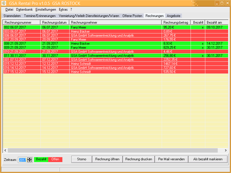 GSA Rental Pro Screenshot