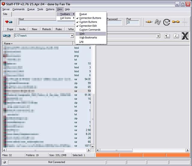 Click to view Staff-FTP 3.04 screenshot