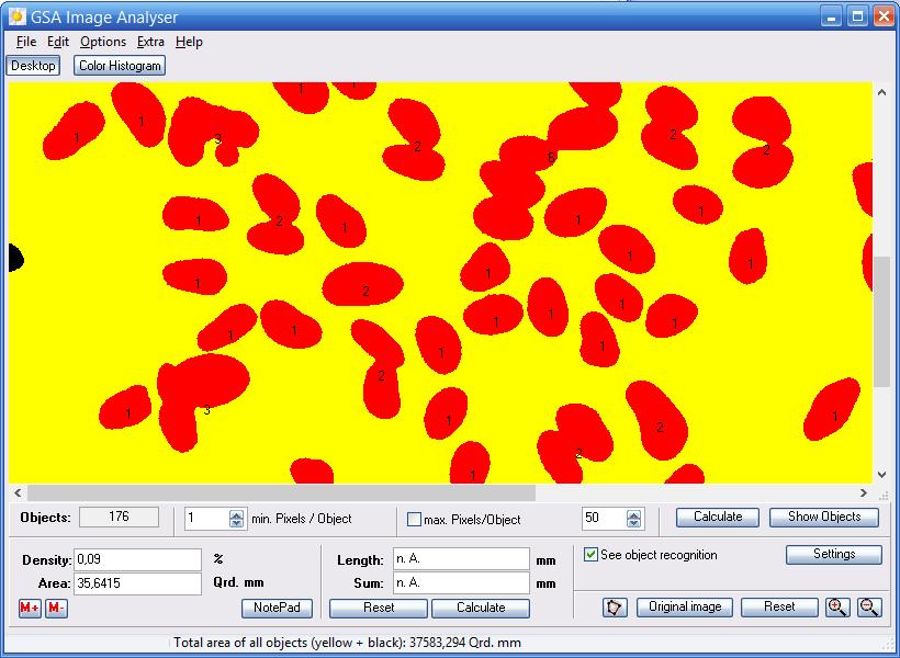 GSA Image Analyser