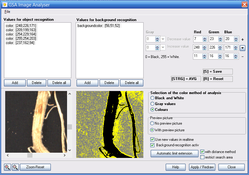 Plant Root Object Recognition In Process