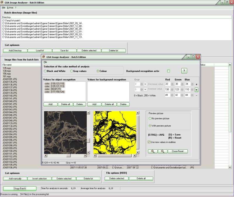 GSA Image Analyser Batch Edition
