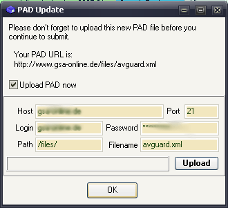 Pad Xml File Upload
